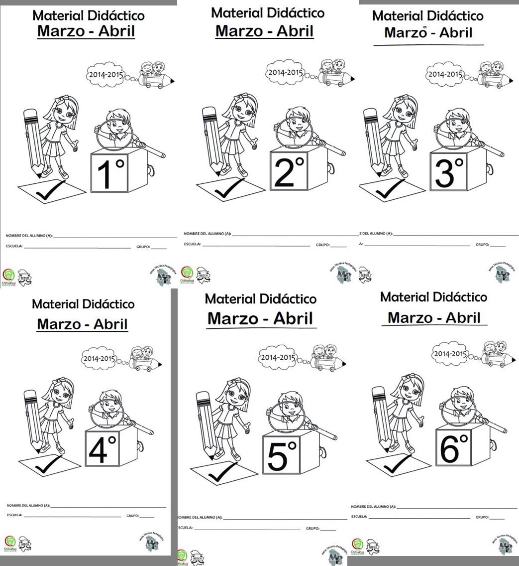 Material didáctico de todos los grados para el cuarto bloque marzo y ...