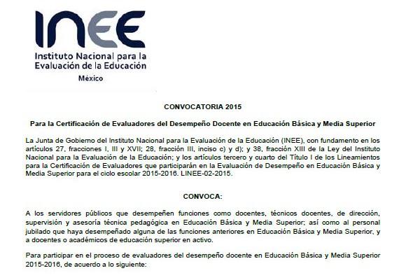 Evaluadores docentes educaci n primaria for Convocatoria para docentes