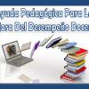 Ayuda pedagógica para la mejora del desempeño docente