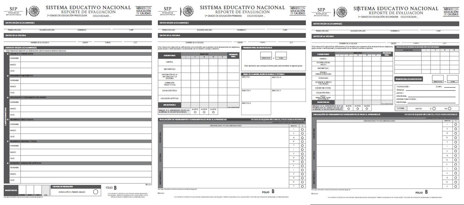 Reportes de evaluación para educación básica del ciclo escolar 2014