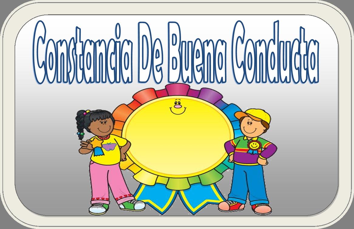 Formato de carta de buena conducta | Educación Primaria