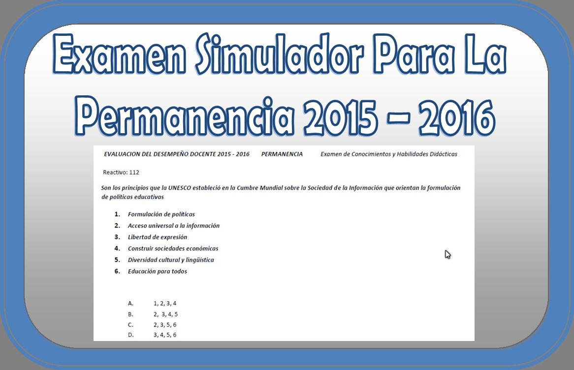 Examen de estudio para la permanencia de docentes en for Examen para plazas docentes 2017