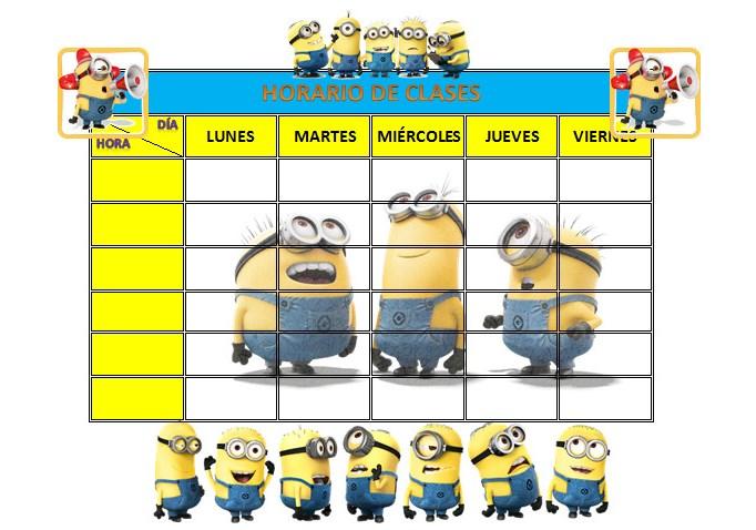horarios escolares editables | educación primaria