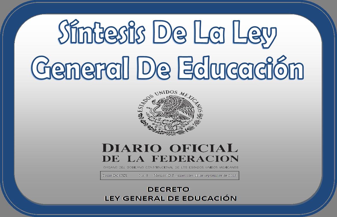 S ntesis de la ley general de educaci n educaci n primaria for Educacion para poder