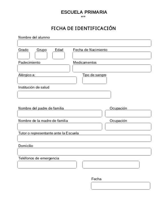 Ficha de identificaci n para alumnos educaci n primaria for Inscripcion jardin 2015