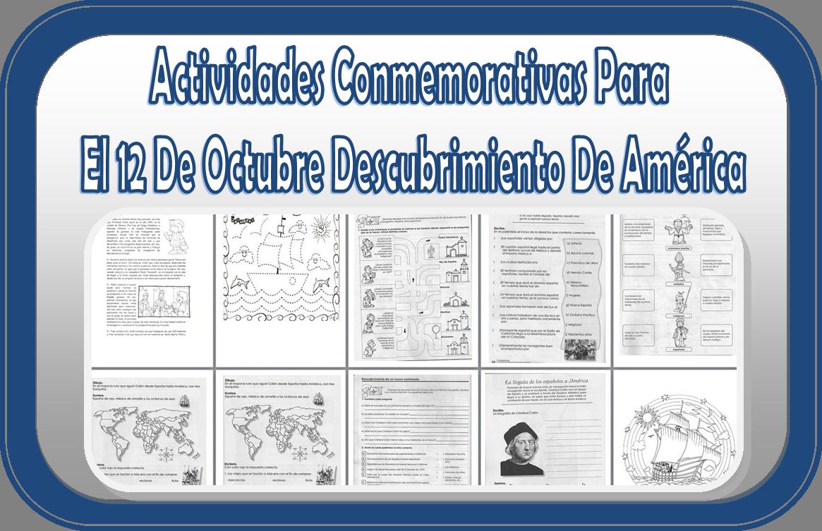 Actividades y dibujos para el 12 de octubre descubrimiento de América    Educación Primaria