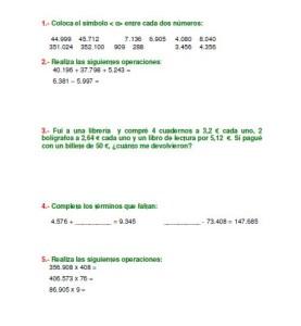 Libro De Matematicas Con Ejercicios Y Actividades Para 5 Grado Primaria Educacion Primaria