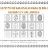 Colección de mándalas para el Día de Muertos y Halloween