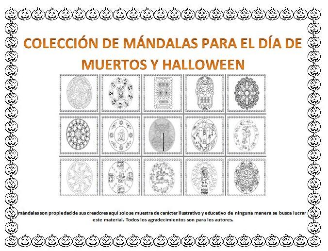 Colección de mándalas para el Día de Muertos y Halloween | Educación ...