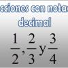 Fracciones con notación decimal