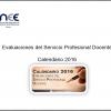 Calendario 2016 evaluaciones del servicio profesional docente actualizado