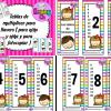 Llaveros de las tablas de multiplicar a color y blanco y negro para colorear para niños y niñas