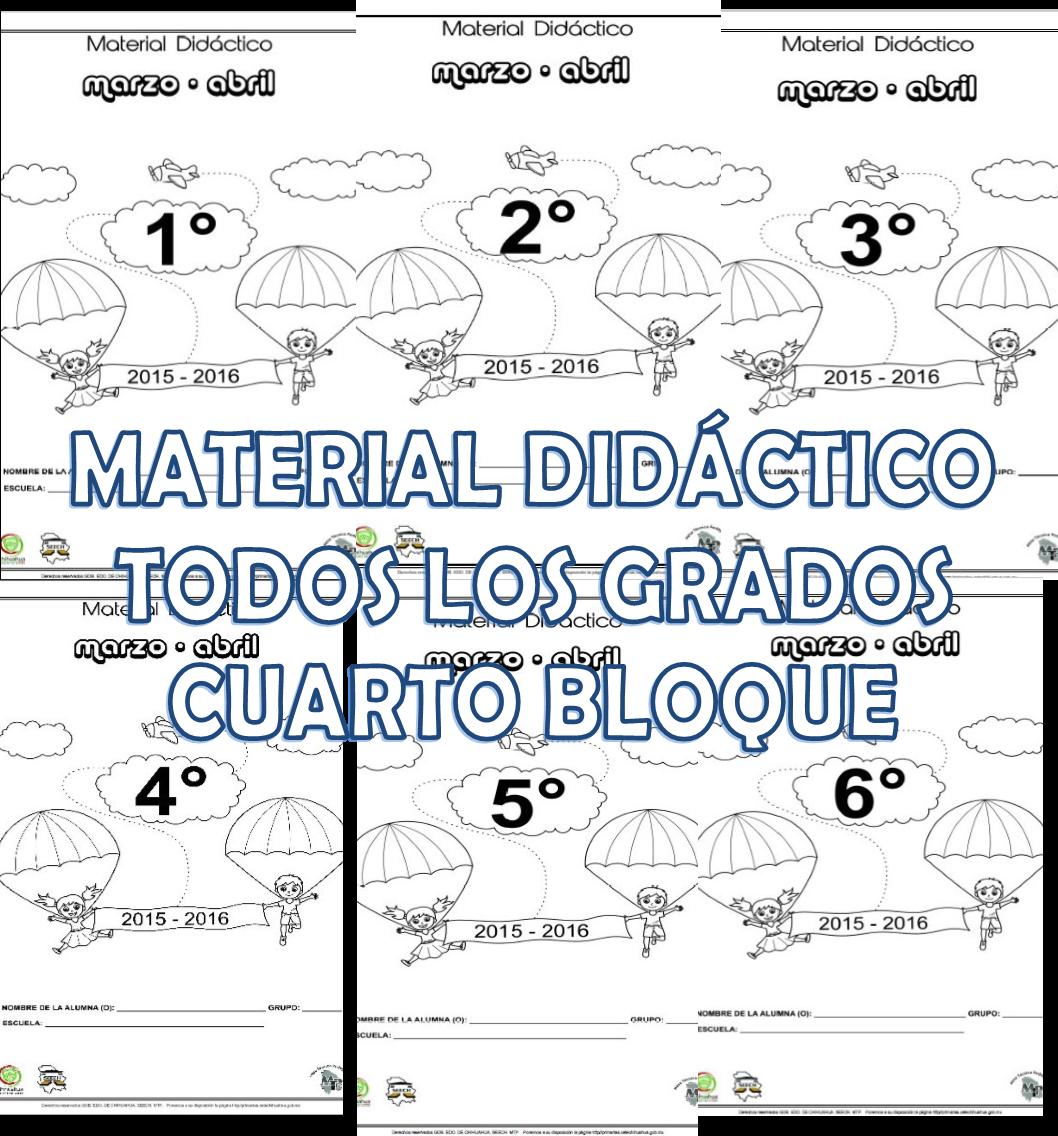 Material did ctico del cuarto bloque de todos los grados for Cuarto primaria
