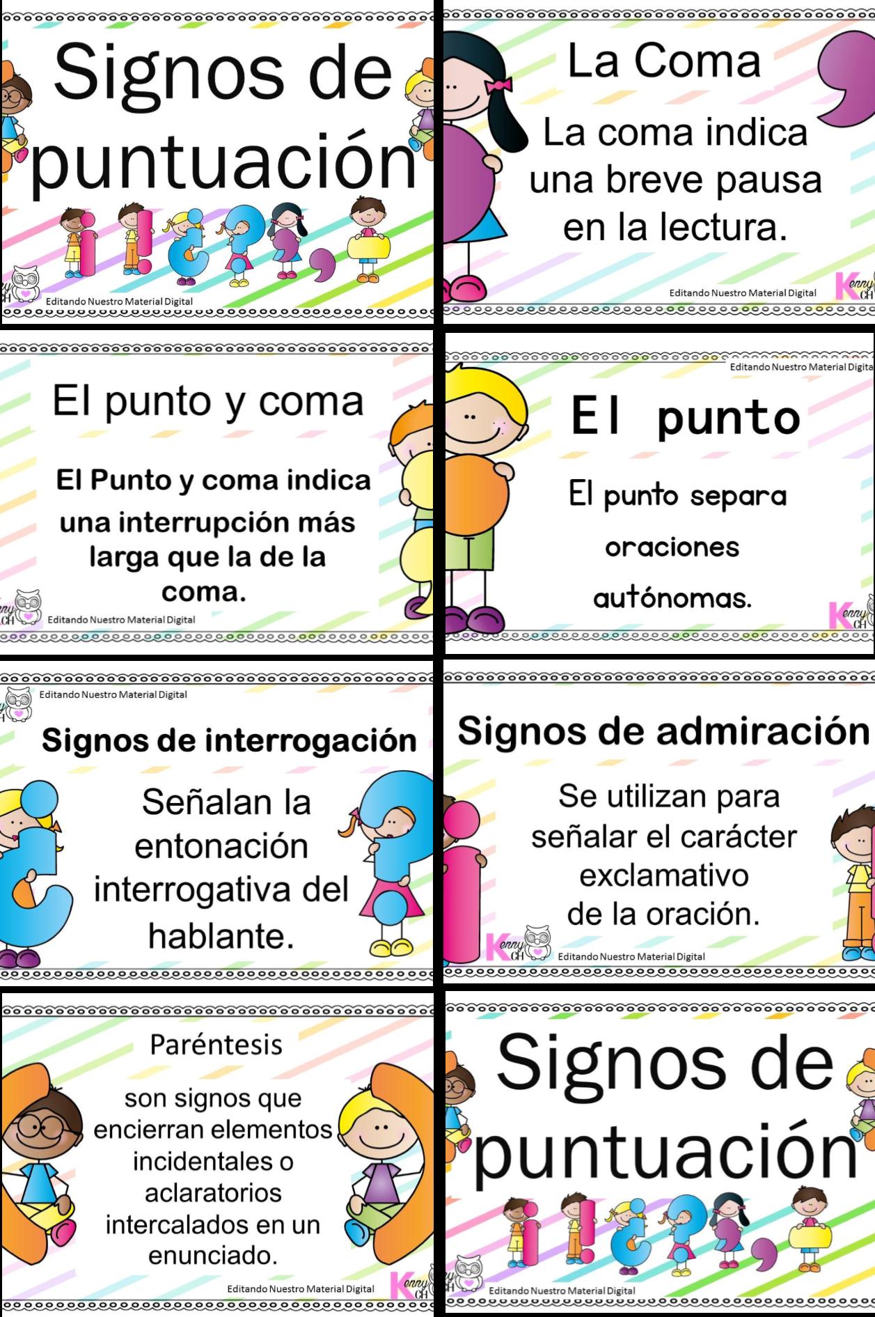 Los signos de puntuación en diseño   Educación Primaria