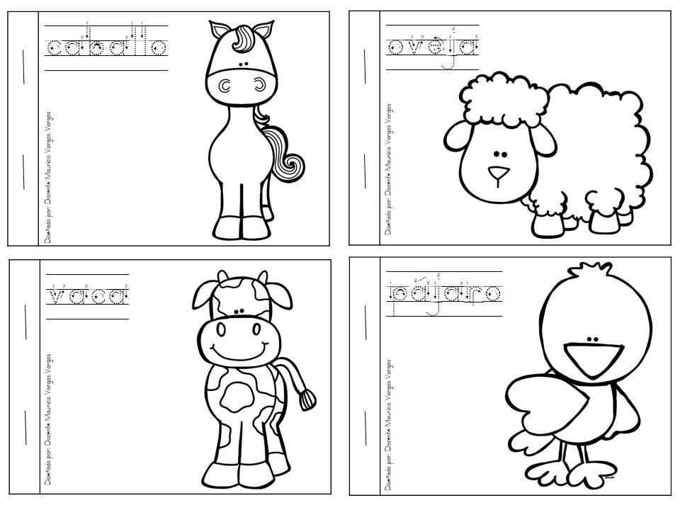 Mi librito para colorear de animales dom sticos para - Animale domestico da colorare pagine gratis ...