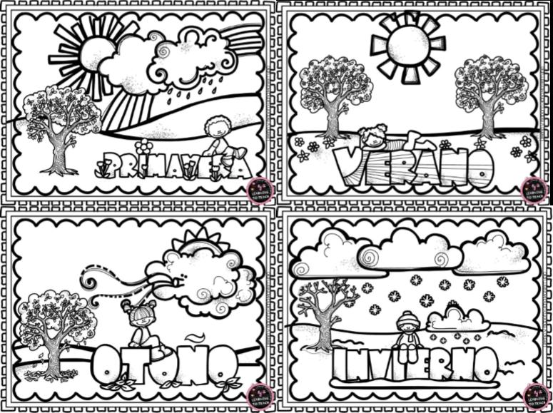 Dibujos De Las 4 Estaciones Para Colorear: Maravillosos Diseños Y Actividades De Las Estaciones Del