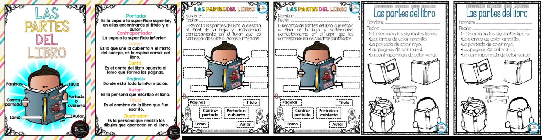 Diseño Y Actividades Sobre Las Partes Del Libro Para Enseñar A