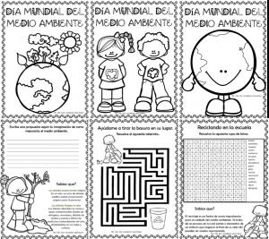 Dibujos Para Colorear Y Actividades Para El Día Mundial Del Medio