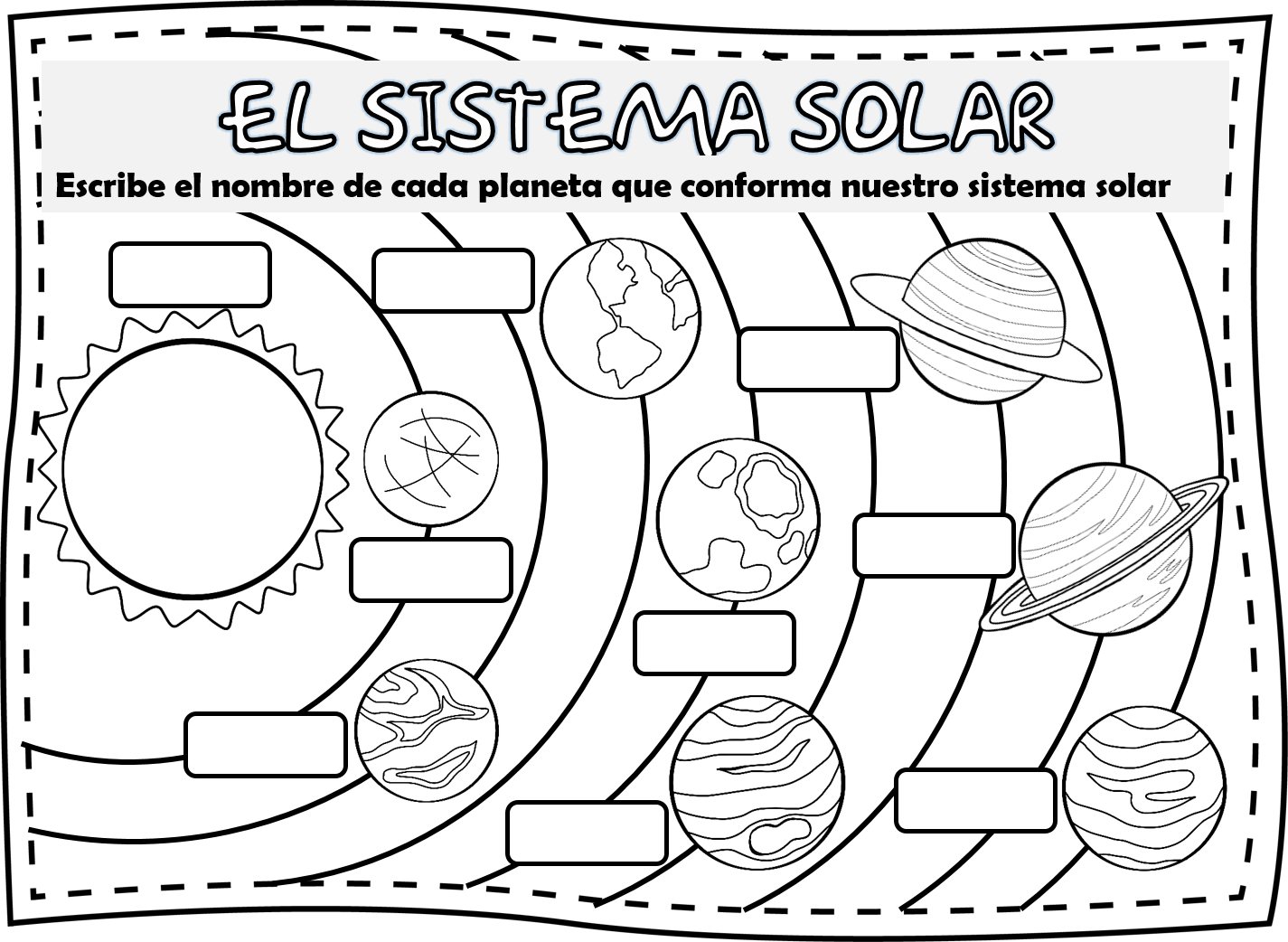 Cuadernillo de actividades sobre el sistema solar   Educación Primaria