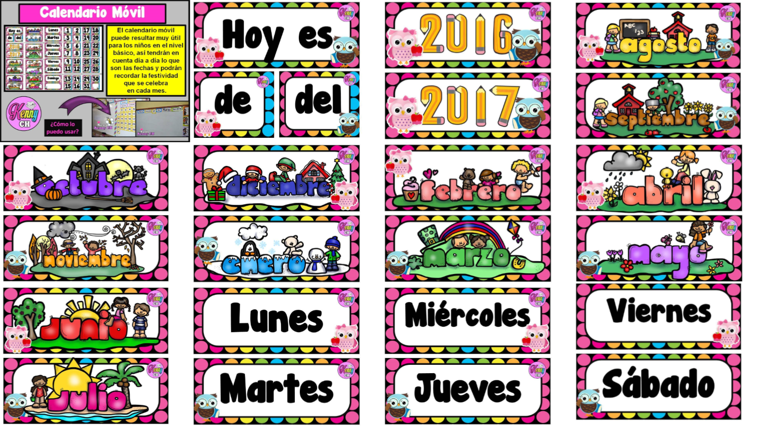 Fabuloso calendario móvil | Educación Primaria