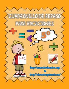 CuadernilloDeRepasoVacaciones5to