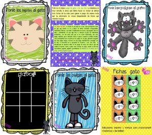 El juego del gato y ponle las pulgas al gato educativo  Educacin