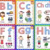 Lindo abecedario con nombres propios ilustrado