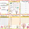 Nueva y hermosa agenda búhos para el ciclo escolar 2016 – 2017 completamente editable