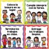Maravillosos diseños de normas de convivencia escolar para el aprendizaje y el orden grupal