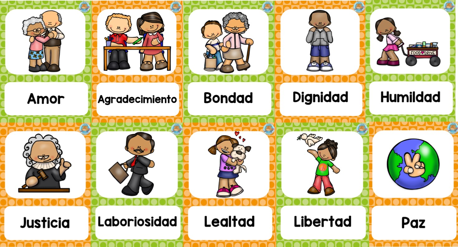 Fabulosos diseños sobre los valores   Educación Primaria