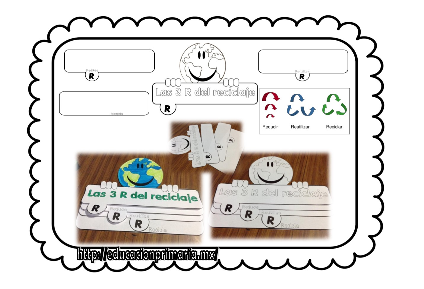 Excelente interactivo para trabajar las 3 r del reciclaje for Dibujos de las 3 r