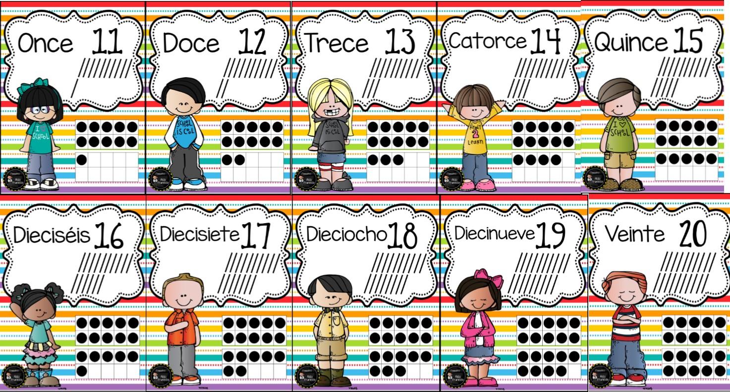 Fantásticos Diseños De Números Del 1 Al 20 Con Su