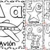 Bonitos diseños de las vocales ilustradas para enseñar y aprender para preescolar y primer grado de primaria