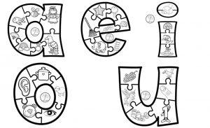 Fabulosas Vocales Ilustradas Para Colorear Y Aprender Preescolar Y