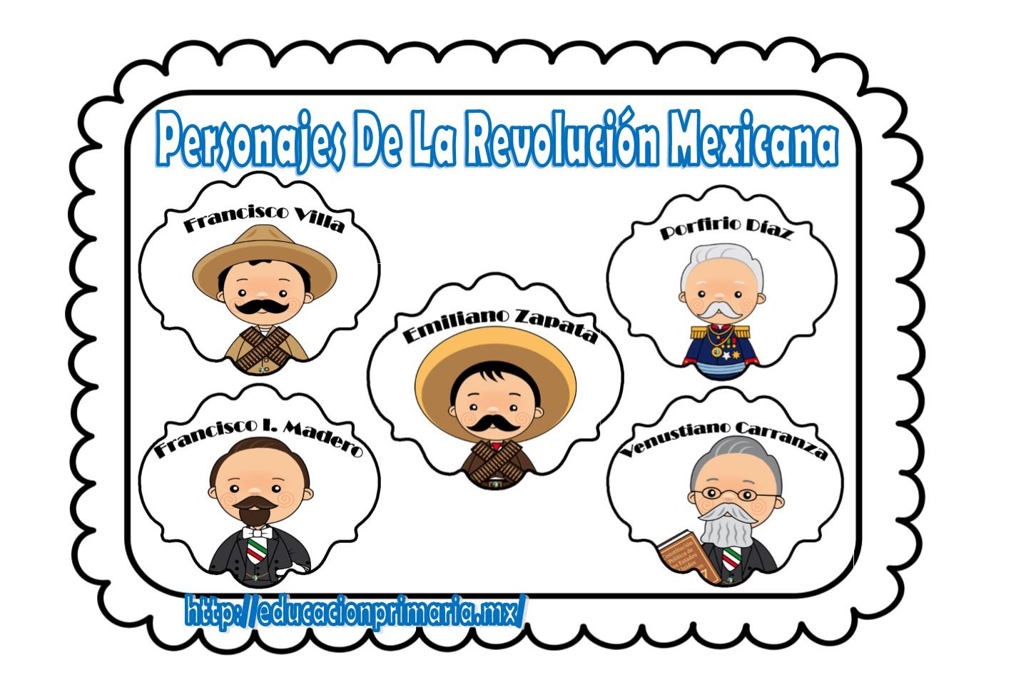 Personajes De La Revolucion Mexicana Educacion Primaria