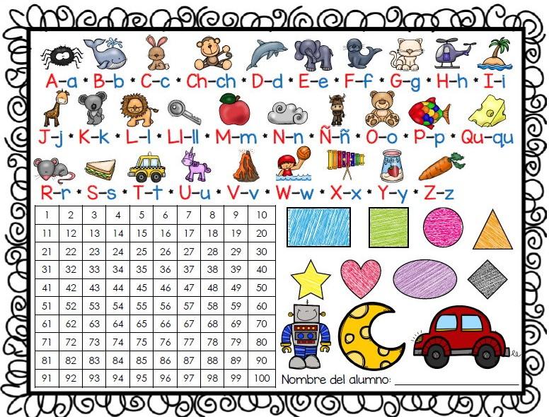 Excelente material de apoyo de abecedario, números y figuras ...
