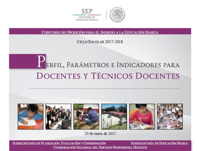 Perfil par metros e indicadores para docentes y t cnicos for Concurso docentes 2017