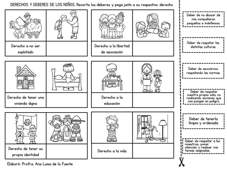 NiÑos Y Deberes Para Colorear: Educación Primaria