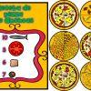 Fabuloso material didáctico interactivo la pizza para trabajar el conteo