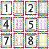 Fantástica y linda lotería y cartas de números