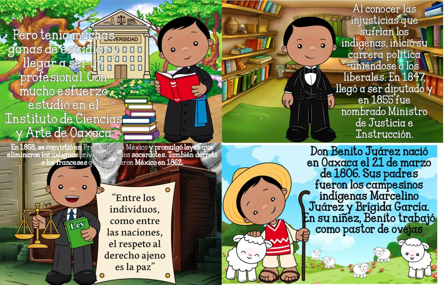 Excelente biografía o cuento de Don Benito Juárez ...