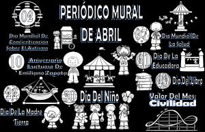 Espectacular Diseno Del Periodico Mural Del Mes De Abril Educacion