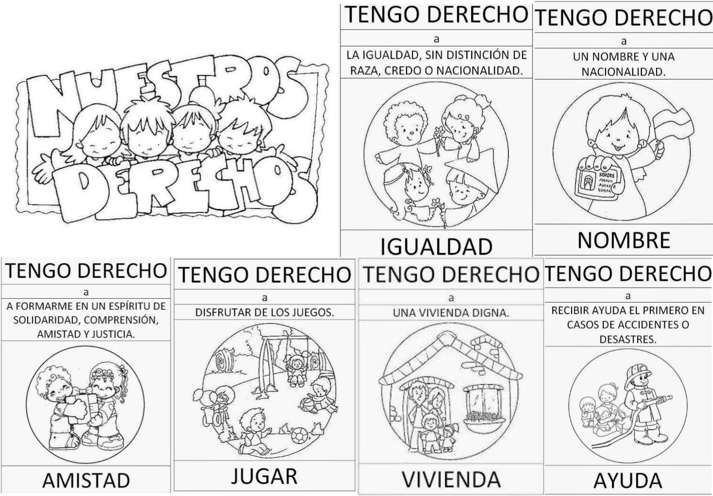 NiÑos Y Deberes Para Colorear: Fantásticos Diseños Para Conocer Los Derechos De Los Niños