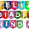 Lindos y fantásticos banderines de FELIZ DÍA DEL NIÑO