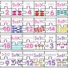 Divertido y educativo rompecabezas de las tablas de multiplicar del 2 y 3