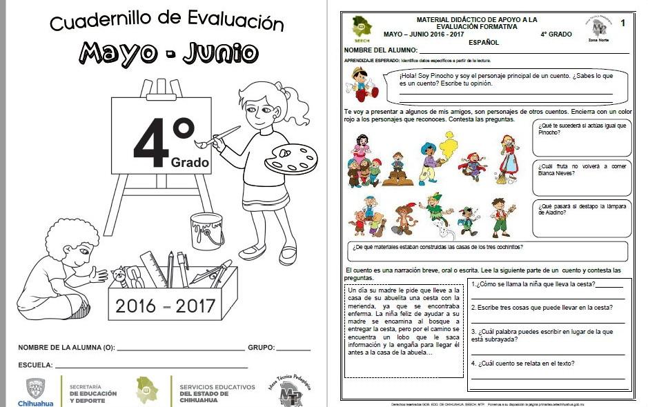 Ejercicios Cuarto Primaria   Material Didactico De Apoyo Del Cuarto Grado Del Quinto Bloque