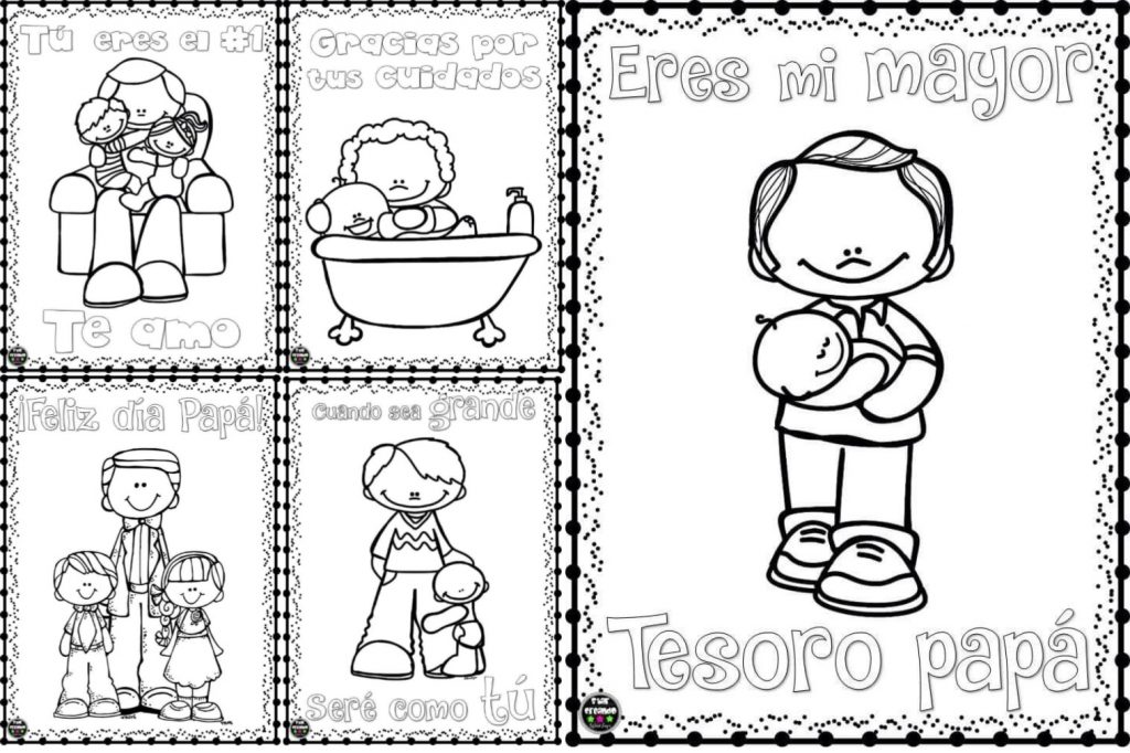 Bonitos dibujos para colorear y celebrar el día del padre ...