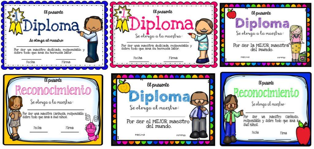 Maravillosos diplomas para el día del maestro | Educación Primaria