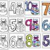 Lindos diseños de números con dulces del 1 al 10
