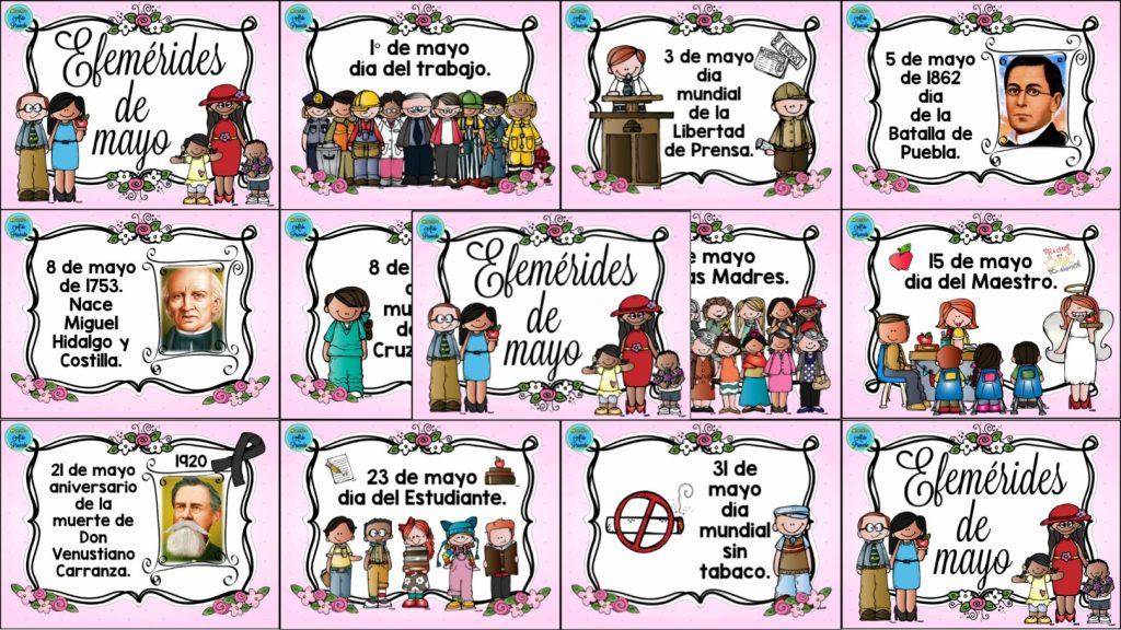 Fantasticos Y Bonitos Disenos De Efemerides De Mayo Educacion Primaria
